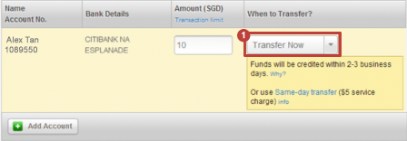 Funds Transfer | OCBC