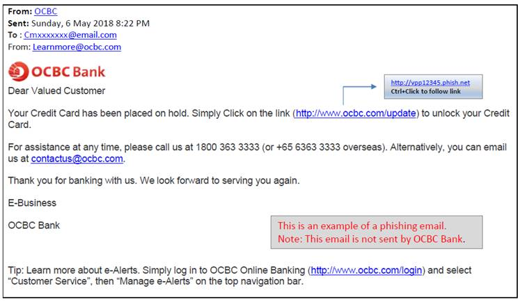 Security Advisory Ocbc Online Banking Ocbc Singapore