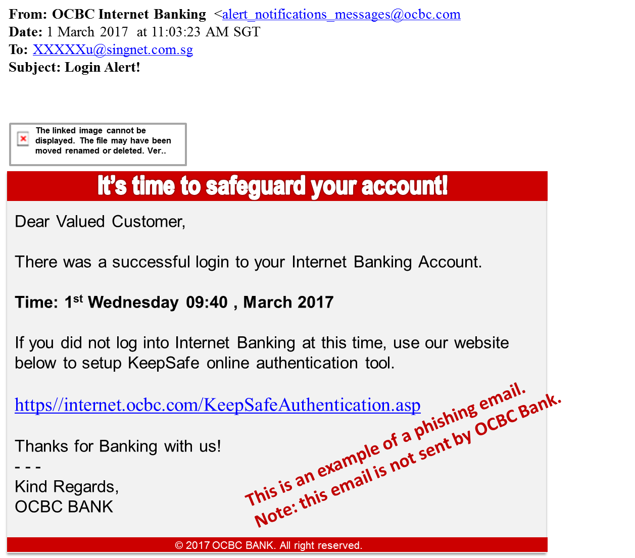 OCBC Online Banking - Security Advisory - OCBC Singapore